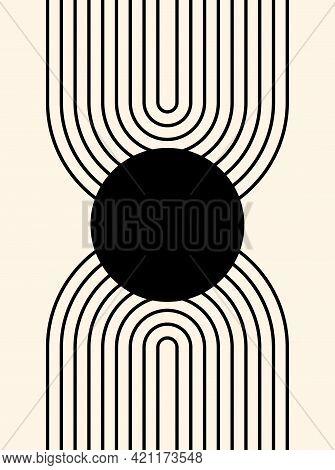 Abstract Poster. Line Art. Contemporary  Geometric Composition. Boho Wall Decor. Mid Century Art Pri