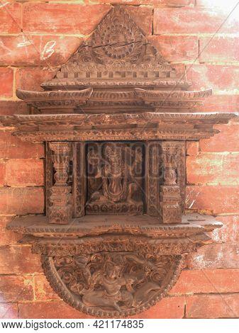 Ancient Antique Building Temple Worship Sanctuary Palace Of Nepal Lalitpur Or Patan Bhaktapur Durbar