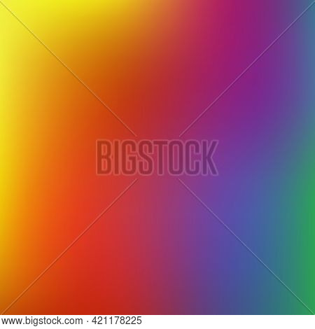 Colorful Gradient Mesh Background In Vibrant Rainbow Colors. Light Editable Soft Color Vector Illust