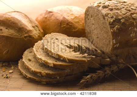 Loaves Of Baked Bread