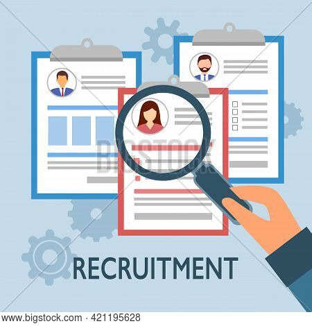Business People Candidate Recruitment. We Are Hiring Concept. Employee Staff Recruitment.