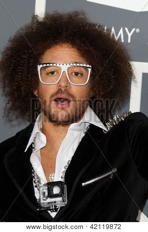 LOS ANGELES - FEB 10:  Red Foo arrives at the 55th Annual Grammy Awards at the Staples Center on February 10, 2013 in Los Angeles, CA