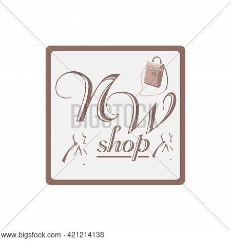N W Letter Design Logo Business. N W Illustration Design Logo Online Shop