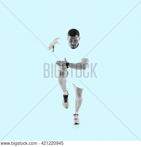 Modern Design, Contemporary Art Collage. Inspiration, Idea, Trendy Magazine Style. Sport. Profession