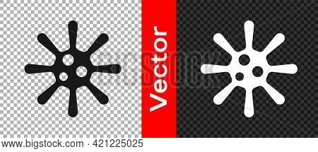 Black Bacteria Icon Isolated On Transparent Background. Bacteria And Germs, Microorganism Disease Ca