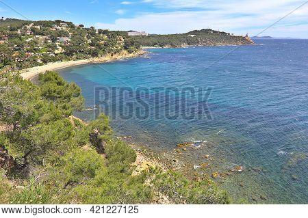 Beach In Saint Mandrier Sur Mer, South Of France;