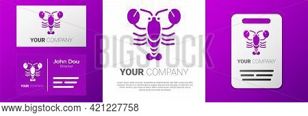 Logotype Lobster Icon Isolated On White Background. Logo Design Template Element. Vector