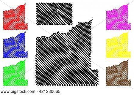 Haakon And Fall River County, State Of South Dakota (u.s. County, United States Of America, Usa, U.s