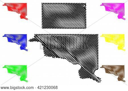 Hughes And Faulk County, State Of South Dakota (u.s. County, United States Of America, Usa, U.s., Us
