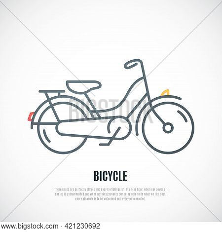 Retro Bicycle Icon Isolated On White Background. Hipster Bicycle Emblem. Vector Design.