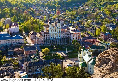 Aerial Sunset View Of Ancient Saint Ignatius Of Loyola And Stanislaus Kostka Church (former Jesuit C