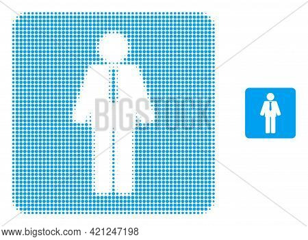 Groom Halftone Dotted Icon Illustration. Halftone Pattern Contains Circle Dots. Vector Illustration