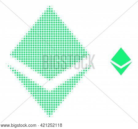 Crystal Halftone Dot Icon Illustration. Halftone Pattern Contains Circle Points. Vector Illustration