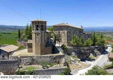 Parish Church Of Santa Maria  Of Aler Is A Spanish Town Belonging To The Municipality Of Benabarre,