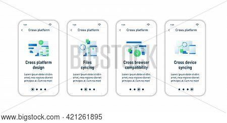 Cross Platform Onboarding Mobile App Screens.design, Cross Browser Compatbility, Devices Syncing. Pr