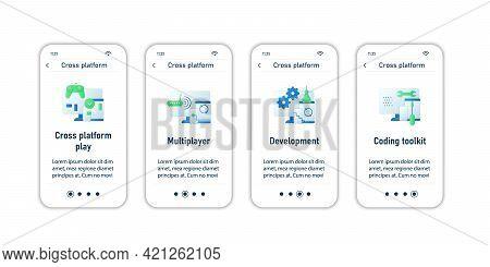 Cross Platform Onboarding Mobile App Screens.playing, Multiplayer, Development, Coding Toolkit. Prog