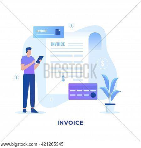 Invoice Illustration Concept Design