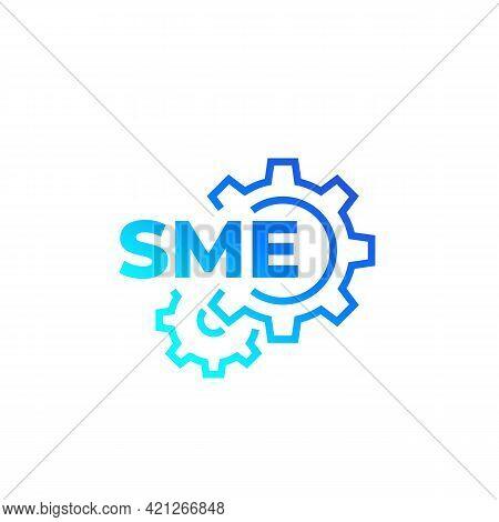 Sme, Small And Medium Enterprise Vector Icon