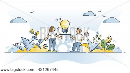 Advice, Opinion Assistance And Consultation With New Idea Outline Concept. Communication With Expert