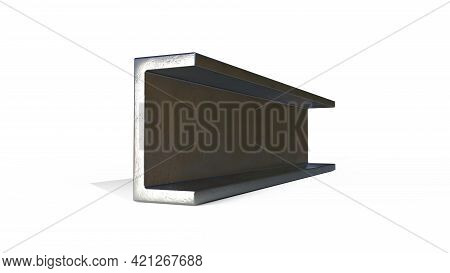 C-beam Metal Profile. Isolated Concept Industrial 3d Illustration