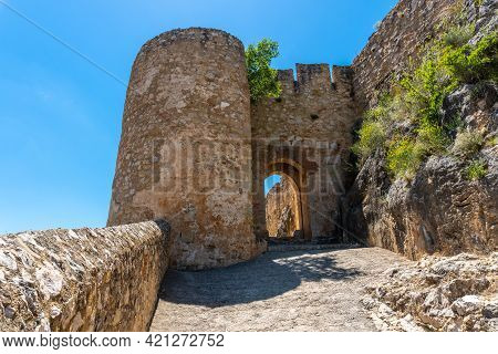 Entrance Of The Castle Of The Medieval Town Of Chulilla In The Mountains Of The Valencian Community.