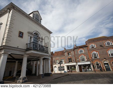 The Town Hall In Wallingford, Oxfordshire In The United Kingdom, Taken On The 31st March 2021