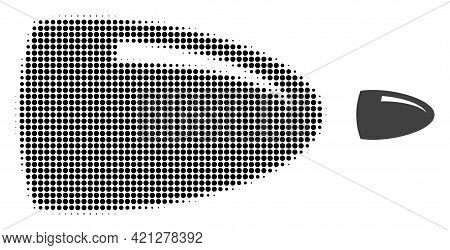 Bullet Halftone Dotted Icon Illustration. Halftone Array Contains Circle Dots. Vector Illustration O
