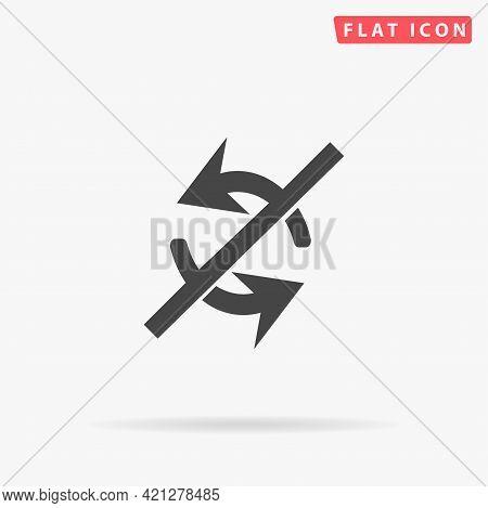 Non Exchange Arrow Flat Vector Icon. Hand Drawn Style Design Illustrations.