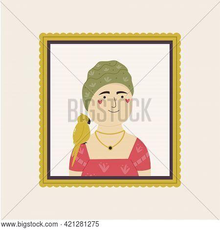Cute Interpretation Of Frida Kahlo Self Portrait.