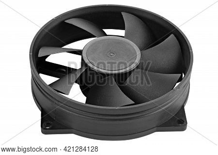 Computer Fan Isolated On White Background. File Contains Clipping Path.