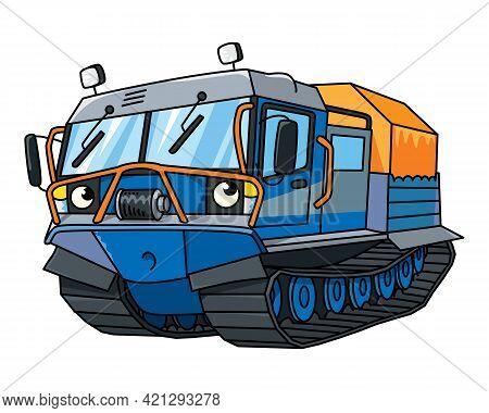 Funny Rover Car. Amphibious Vehicle Vector Truck