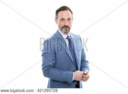 Get Ready. Successful Man In Businesslike Suit. Entrepreneur Or Manager. Male Formal Fashion.