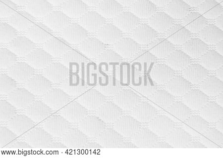 Texture Of Natural Fabric Close-up. The Texture Of The Fabric Is Made Of Natural Cotton Nylon Or Lin