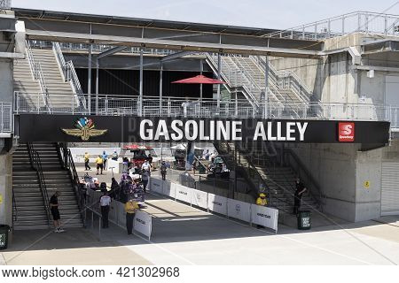 Indianapolis - Circa May 2021: Indianapolis Motor Speedway Gasoline Alley. Ims Is Preparing For The
