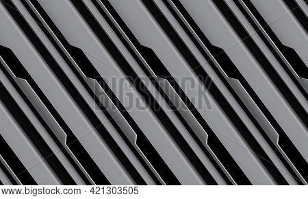 Abstract Grey Black Circuit Cyber Geometric Line Slash Design Modern Futuristic Technology Backgroun