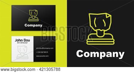 Logotype Line Kidnaping Icon Isolated On Black Background. Human Trafficking Concept. Abduction Sign