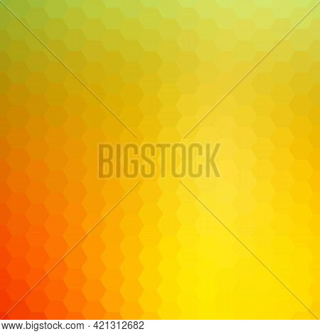 Light Yellow Vector Template In A Hexagonal Style. Smart Abstract Illustration With Colored Gradient