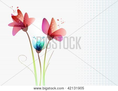 Fresh Transparency Flowers
