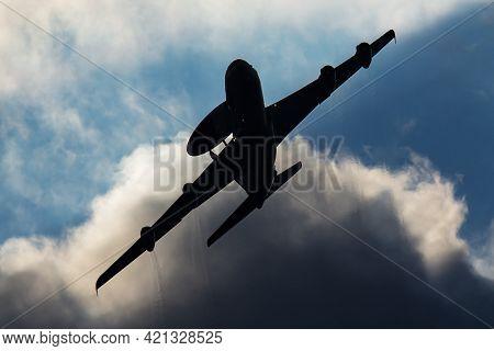 Zeltweg / Austria - September 5, 2019: Nato Early Warning & Control Force Boeing E-3a Awacs Plane Fl