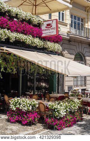 Sesir Moj Famous Restaurant In Skadarlija Street In Belgrade, Serbia