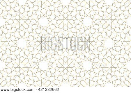 Seamless Original Pattern In Authentic Arabian Style.
