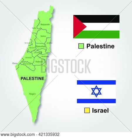 Vector Map Of Palestine Isolated On White Background