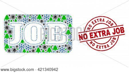 Winter Coronavirus Collage Job Caption, And Rubber No Extra Job Red Round Watermark. Collage Job Cap