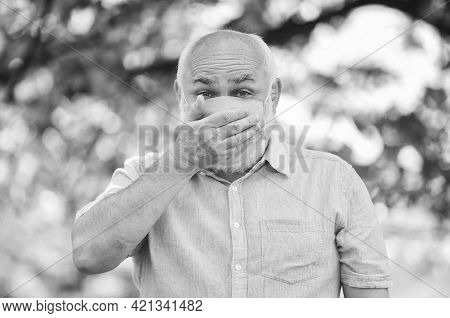 Coronavirus Pandemic. Pandemic Concept. Pandemic Outbreak. Do Not Touch Your Face. Support Elderly D