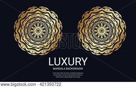 Luxury Mandala Background Vector Design. Round Gradient Mandala On White Black Background. Ornamenta