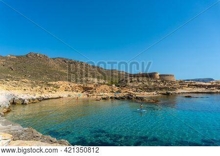 El Playazo De Rodalquilar In Cabo De Gata On A Beautiful Summer Day, Almería. Mediterranean Sea, Spa