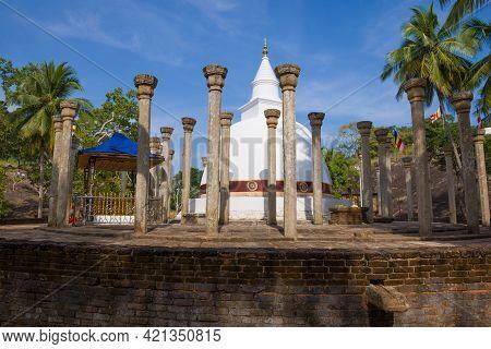 Ambasthala Dagoba - Ancient Buddhist Temple On The Mango Plateau. Mihintale, Sri Lanka
