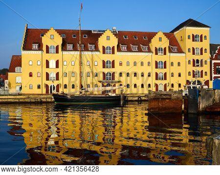 Colorful Old Traditional Style City Urban Houses Svendborg Denmark