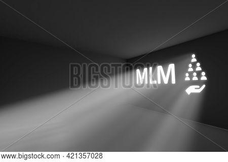 Mlm Rays Volume Light Concept 3d Illustration