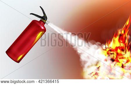Stored-pressure, Handheld Fire Extinguisher Spraying Firefighting Agent, Suppressing Blazing Flame R